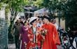 Diện cổ phục triều Nguyễn trong ngày cưới, cô dâu chú rể gây sốt mạng
