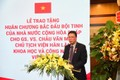 Nhà khoa học Việt nhận Huân chương Bắc đẩu Bội tinh của Pháp