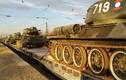 Xe tăng T-34 từ Lào chuẩn bị cho duyệt binh ở Nga