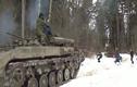 Dân chơi Nga thuê xe thiết giáp để trượt tuyết