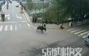 Trâu điên lộng hành đuổi người trên phố