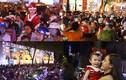 Biển người ra đường đón Giáng sinh ở Hà Nội-TPHCM