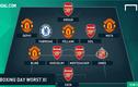 Đội hình tệ nhất vòng 18 Premier League: Muối mặt Pháo thủ