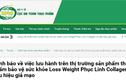 Cảnh báo: TPBVSK Loss Weight Phục Linh Collagen có dấu hiệu giả mạo