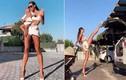 """Người đẹp Nga đôi chân siêu dài """"lộ"""" bí kíp giữ dáng nóng bỏng"""