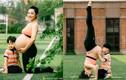 """Nữ diễn viên Trung Quốc """"bế"""" bụng bầu 8 tháng tập yoga cực đỉnh"""