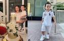 Con trai Phạm Hương bé tí nhưng mẹ cho ăn mặc sành điệu vô cùng