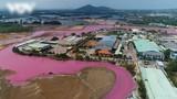 Vũng Tàu: Doanh nghiệp xả thải làm nước chuyển màu hồng bị phạt hơn 370 triệu