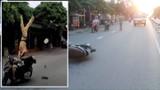 Hải Phòng: CSGT bị hất văng tung trời khi chặn xe vi phạm