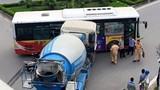 Xe bồn cố vượt, đâm ngang sườn xe buýt kinh hoàng
