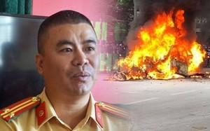 CSGT kể phút lao vào biển lửa cứu người vụ xe Mercedes đâm chết cô gái, bốc cháy ngùn ngụt