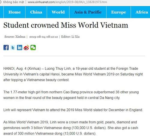 Bao quoc te noi gi ve Luong Thuy Linh dang quang Miss World Viet Nam?-Hinh-2