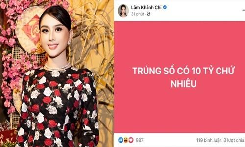 """Lam Khanh Chi len tieng ve loi tuyen bo """"trung so"""" 10 ty"""