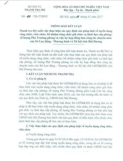 Thanh tra Bo Noi vu ket luan vu So toan lanh dao o Hai Duong-Hinh-2