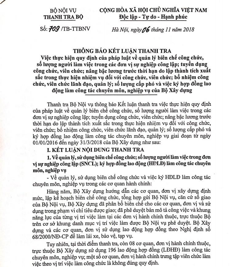 Cong tac can bo tai Bo Xay dung co nhieu sai pham-Hinh-2