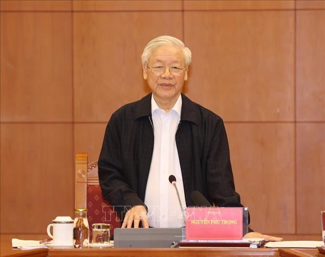 Tong Bi thu: Day nhanh dieu tra truy to, xet xu mot so vu da ro, da chin