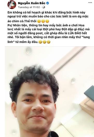 """Xuan Bac canh bao: """"Anh dang toi choi hoa lan la lua dao"""""""