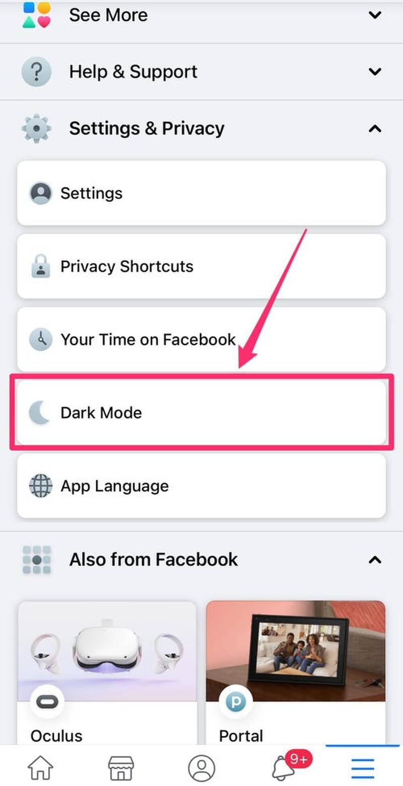 Cach mo che do Dark Mode cua Facebook tren tat ca cac thiet bi-Hinh-3