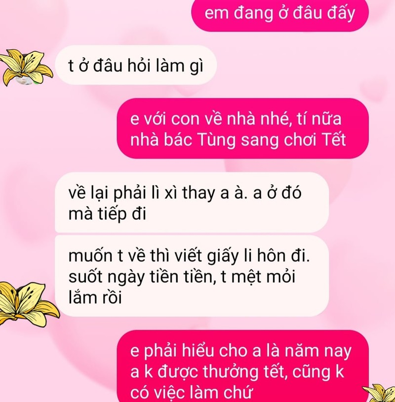 """Li xi ngay Tet: """"Vo toi doi ly hon vi thoa thuan li xi"""""""