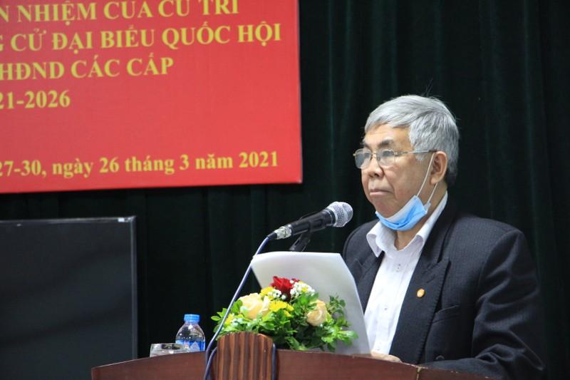 Ung cu DBQH: TSKH Phan Xuan Dung nhan tin nhiem tuyet doi cua cu tri noi cu tru