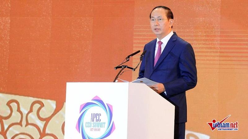 Chu tich nuoc phat bieu tai Hoi nghi Thuong dinh Doanh nghiep APEC