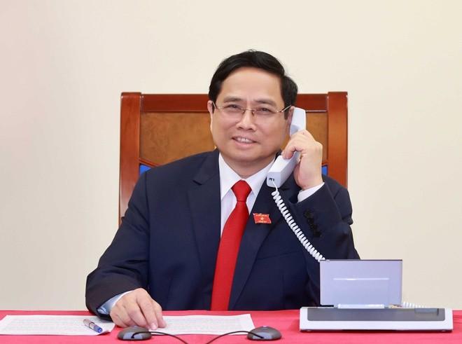 Thu tuong Pham Minh Chinh dien dam voi thu tuong Campuchia