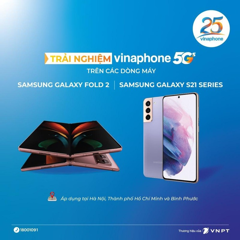 Them nhieu dong may Samsung su dung duoc VinaPhone 5G