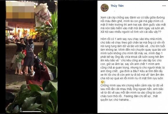 Thuy Tien mot phat be tay ke say xin khien Cong Vinh
