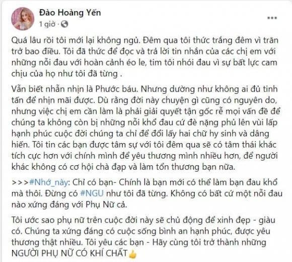 Hoang Yen nhan nhu phu nu: