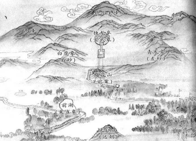 Phong thuy trong cac lang mo hoang de Trung Hoa-Hinh-2