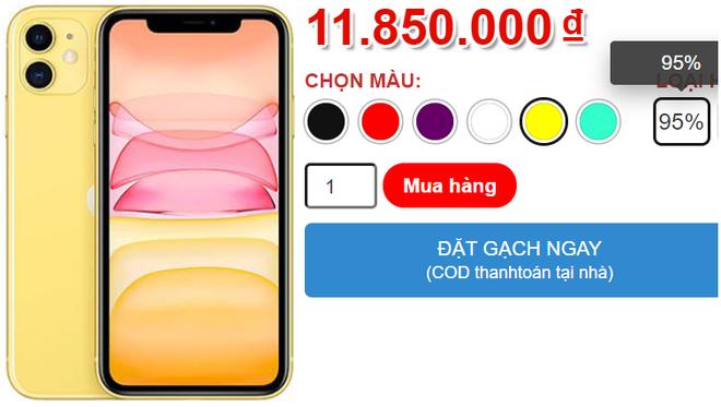 Gia iPhone 11 giam xuong duoi 12 trieu dong