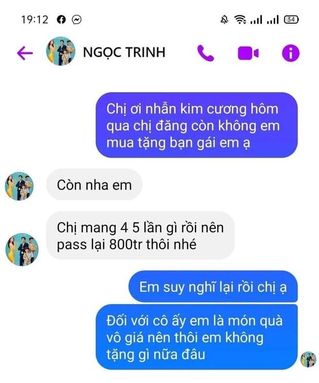 Chang trai dinh mua nhan kim cuong cua Ngoc Trinh va cai ket dang