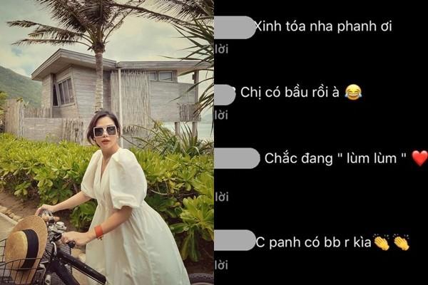 Phanh Lee noi gi ve tin don mang thai?