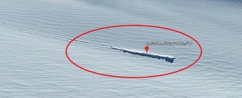 Google Earth phat hien thay dia bay UFO roi?