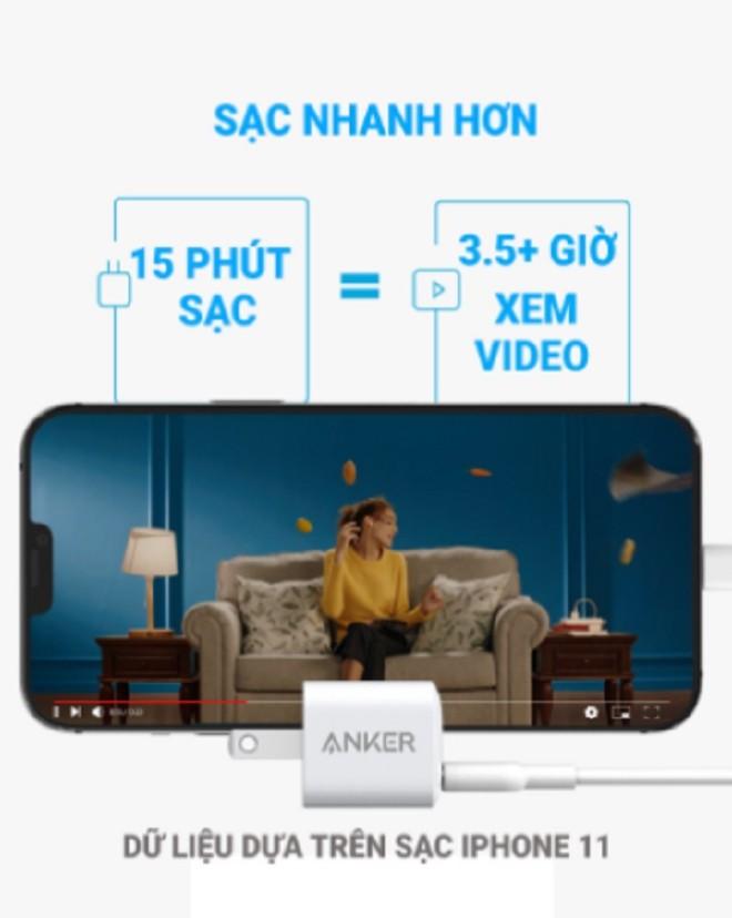 Combo sac Anker hoan hao danh cho smartphone