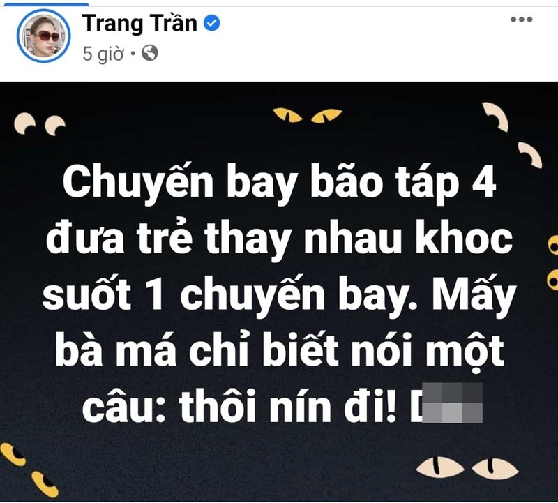 Trang Tran noi dien khi chung kien canh me tat con tren may bay-Hinh-2
