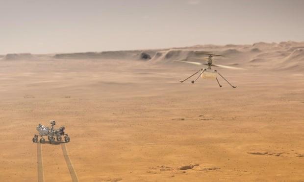Truc thang NASA chuan bi cat canh lan dau tien tren Sao Hoa