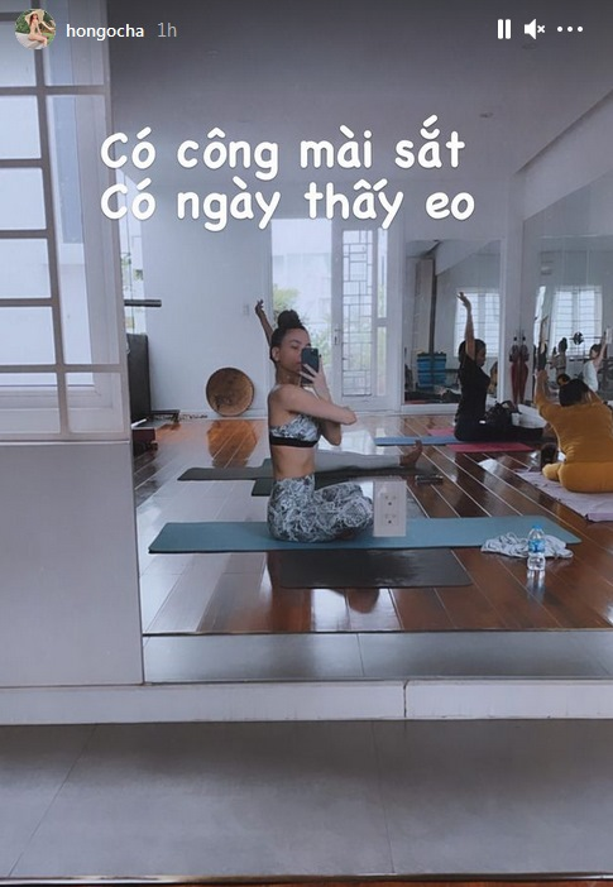 Khong can toi photoshop, Ho Ngoc Ha khoe co bung cuon cuon