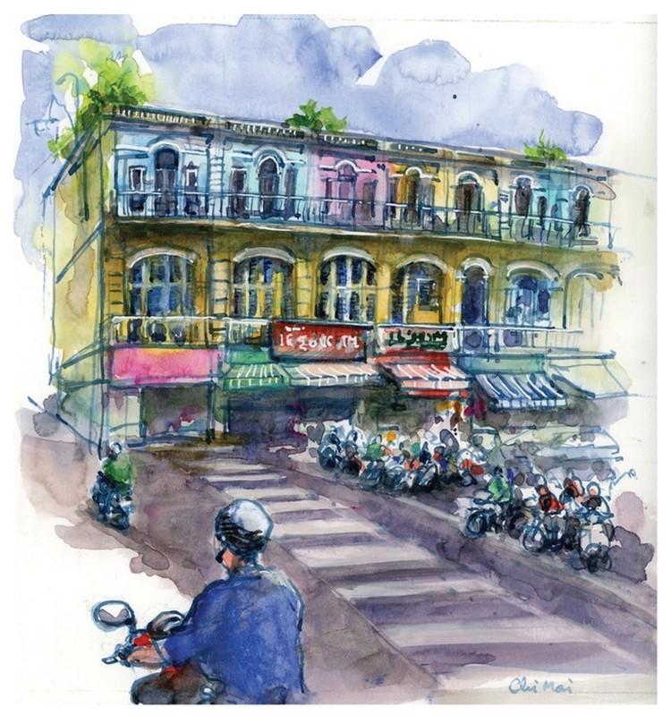 Nha co quanh Cho Ben Thanh va Cho Lon qua nhung buc ky hoa-Hinh-10