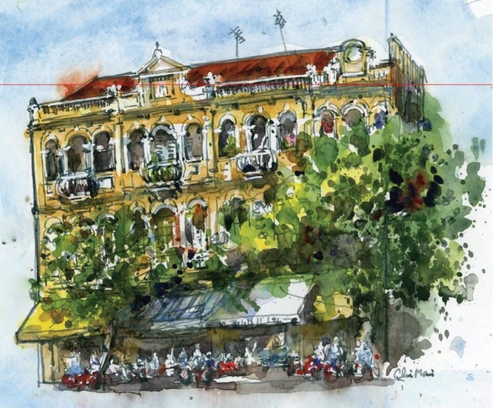 Nha co quanh Cho Ben Thanh va Cho Lon qua nhung buc ky hoa-Hinh-11