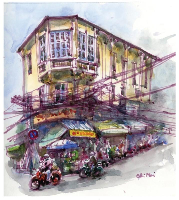 Nha co quanh Cho Ben Thanh va Cho Lon qua nhung buc ky hoa-Hinh-3