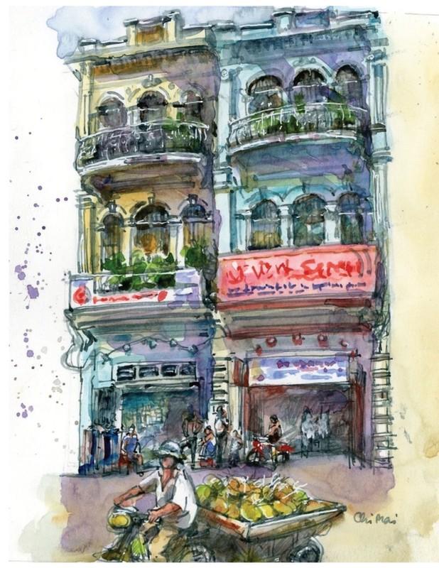 Nha co quanh Cho Ben Thanh va Cho Lon qua nhung buc ky hoa-Hinh-4