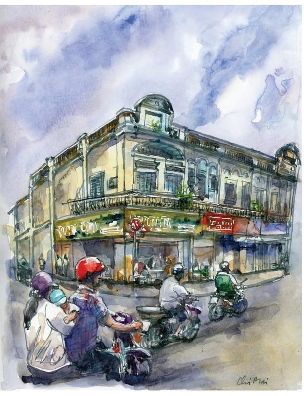 Nha co quanh Cho Ben Thanh va Cho Lon qua nhung buc ky hoa-Hinh-8