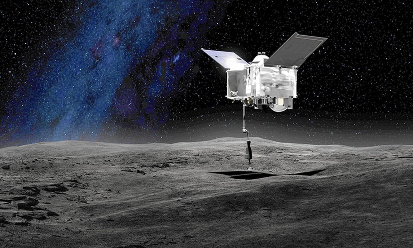 Tau NASA lay mau tieu hanh tinh Bennu mat... 5 giay-Hinh-6