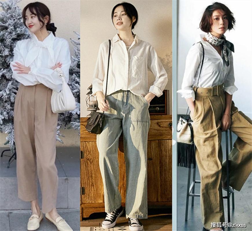 Cach phoi so mi trang phong cach retro sang xin, hop trend-Hinh-9