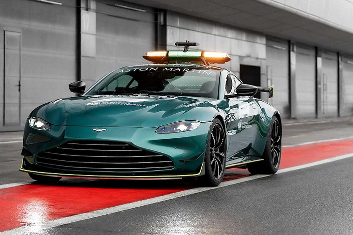 Sieu xe Aston Martin Vantage phien an toan tren duong dua F1-Hinh-2