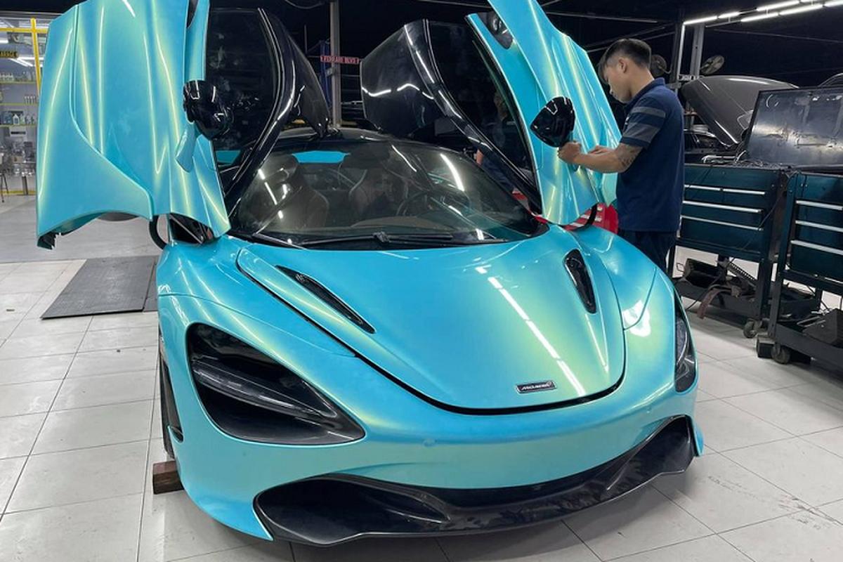 "McLaren 720S hon 20 ty dau tien tai Viet Nam ""len do"" sieu khung"