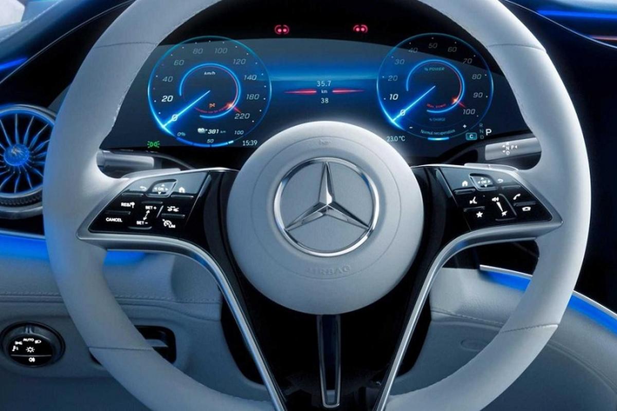 Xe dien cao cap Mercedes EQS 2022 lo hinh anh noi that-Hinh-2