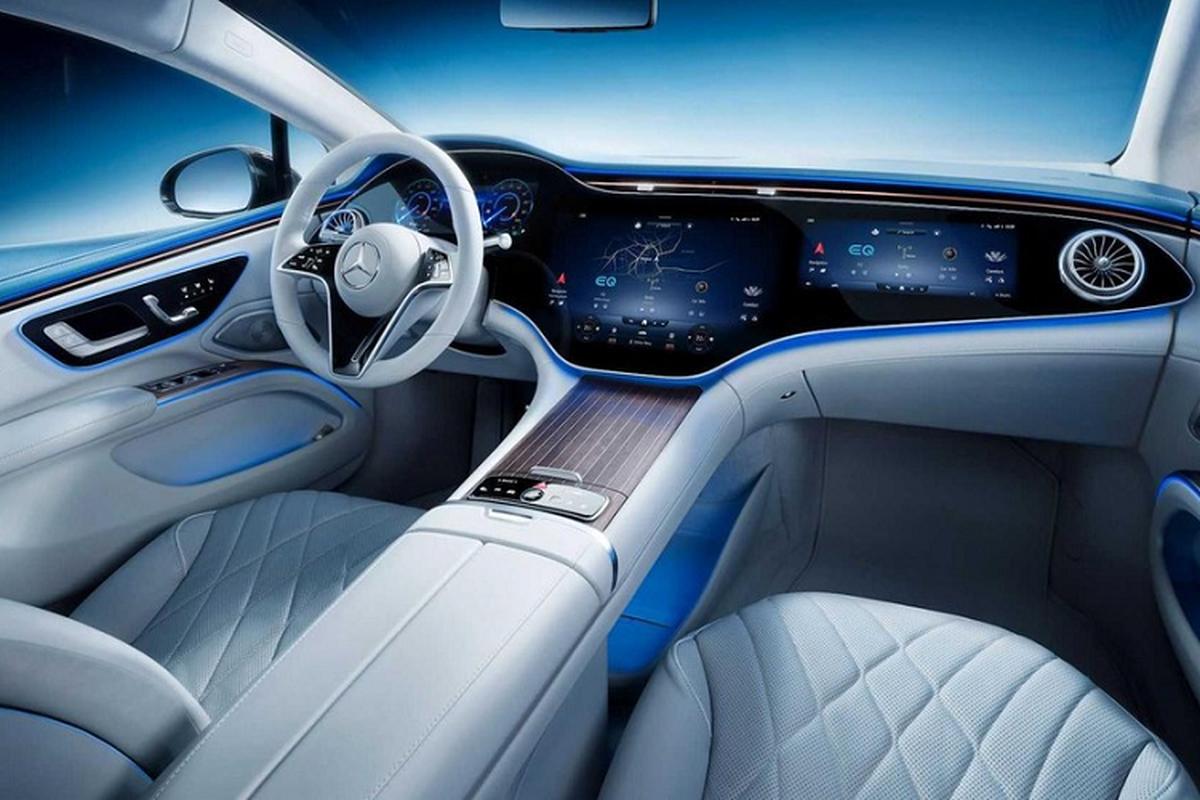 Xe dien cao cap Mercedes EQS 2022 lo hinh anh noi that-Hinh-4