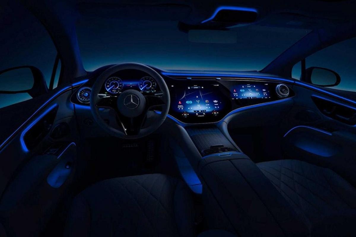 Xe dien cao cap Mercedes EQS 2022 lo hinh anh noi that-Hinh-6